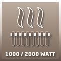 Fürdőszobai hősugárzó BH 2000 H VKA 1
