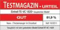Aspirasolidi e liquidi TE-VC 1820 Testmagazin - Logo (oeffentlich) 1