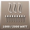 Fürdőszobai hősugárzó BH 2000/1 VKA 1