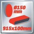 Slefuitor curea/disc TC-US 400 VKA 2