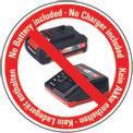 Segaccio universale a batteria TE-AP 18 Li-Solo Logo / Button 1