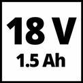Avvitatore a percussione a batteria TE-CD 18-2 Li-i Kit VKA 1