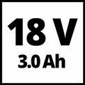 Akkus magassági ágvágó GE-LC 18 LI T Kit (1x3,0Ah) VKA 1