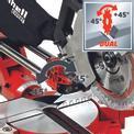 Zug-Kapp-Gehrungssäge TE-SM 2534 Dual Detailbild ohne Untertitel 2