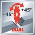 Vonó-fejező-gérvágó fűrész TE-SM 2534 Dual VKA 2