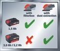 Akkus multicsiszoló TE-OS 18 Li - Solo Logo / Button 1