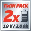 Akkus fűnyíró GE-CM 36 Li Kit (2x3,0Ah) VKA 1