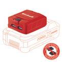 Incarcator cu USB TE-CP 18 Li USB-Solo Produktbild 1