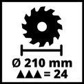 Kapp-Gehrungssäge m. Obertisch TC-MS 2112 T VKA 3