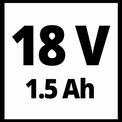 Taladro sin cable TE-CD 18/2 Li Kit (2x1,5 Ah) VKA 1