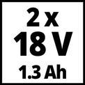 Taladro sin cable TC-CD 18-2 Li (2x1,3 Ah) VKA 1