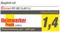 Avvitatore a batteria TE-SD 3,6 Li Kit Testmagazin - Logo (oeffentlich) 2