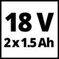 Avvitatore a percussione a batteria TC-CD 18-2 Li-i (2x1,5 Ah) VKA 1