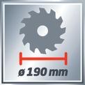 Set seghe circolari manuali TE-CS 190 Kit VKA 3