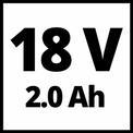 Akkus ütvefúró-csavarozó TE-CD 18 Li-i BL (2x2,0Ah) VKA 1