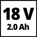 Akkus lombfúvó GE-CL 18 Li E Kit (1x2,0Ah) VKA 1