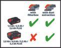 Akkus multicsiszoló TE-OS 18/1 Li-Solo Logo / Button 2