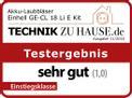 Akku-Laubbläser GE-CL 18 Li E Kit Testmagazin - Logo (oeffentlich) 1
