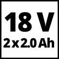 Akku-Bohrschrauber TE-CD 18 Li E (2x2,0Ah) VKA 1