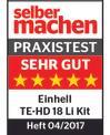 Tassellatore a batteria TE-HD 18 Li-Solo Testmagazin - Logo (oeffentlich) 2