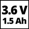 Akku-Gras- und Strauchschere GC-CG 3,6 Li WT VKA 2