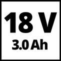 Akkus sarokcsiszoló TE-AG 18/115 Li Kit (1x3,0Ah) VKA 1