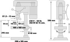 Bench Drill BT-BD 401 Detailbild 1