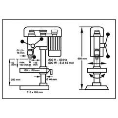 Bench Drill RTB 500; Ex; AT Detailbild 1