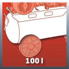 Air Compressor TE-AC 400/100/10 D Detailbild 3
