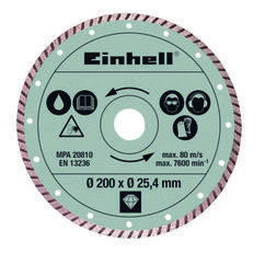 Productimage Radial Tile Cutter Accessory Dia. cutting disc 200x25,4 tur