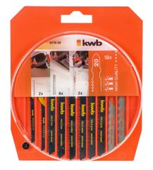 Productimage Jig Saw Blades Jigsaw Blade Box, 10 pcs.