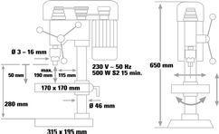 Bench Drill BT-BD 501 Detailbild 1