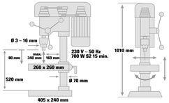 Bench Drill BT-BD 1020 Detailbild 1