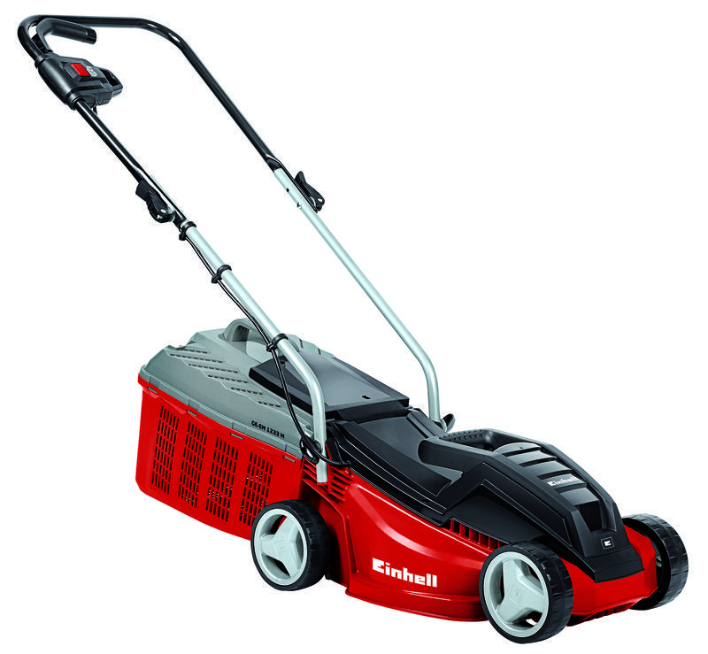 Electric lawn mower ge em 1233 m discover einhell for Lawn mower electric motor