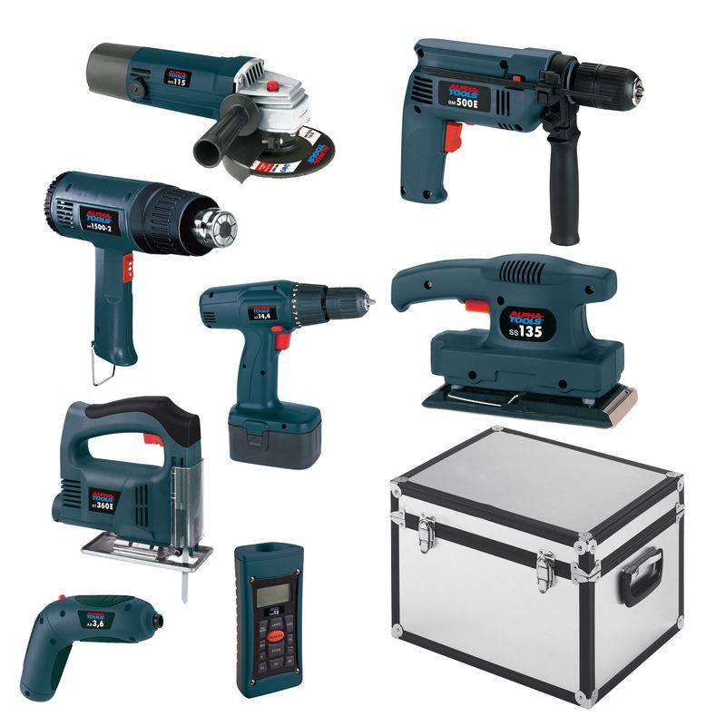 Ersatzteile zu 9-tlg. Maschinenset - Alpha Tools Maschinen