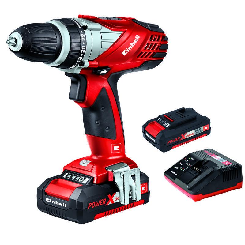 Productimage Cordless Drill TE-CD 18 Li mit 2. Akku Kit