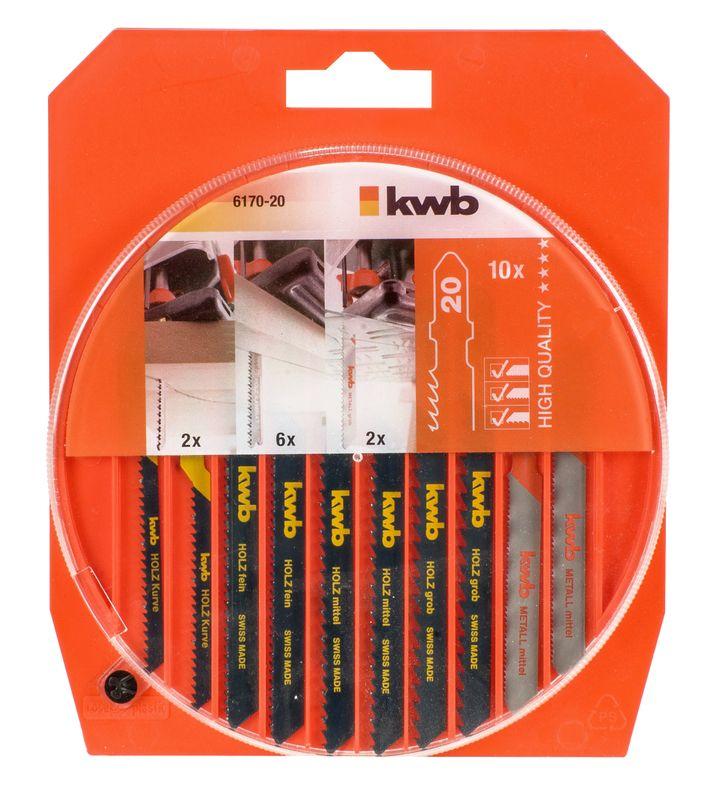 Produktbild Handwerkzeug Stichsägeblätter-Set, 10-tlg.