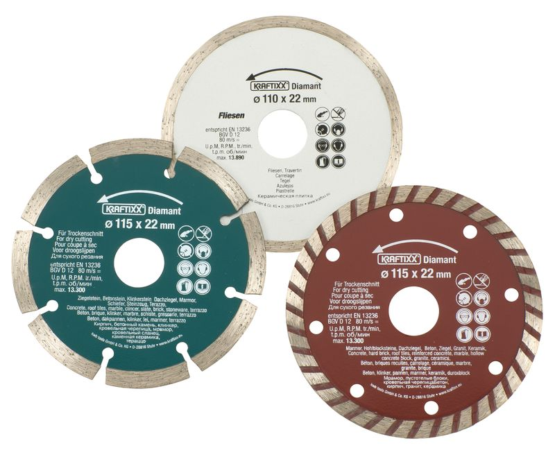 Productimage Diamond Cutting Disc 3 Diamond Cutt. Discs 115/110