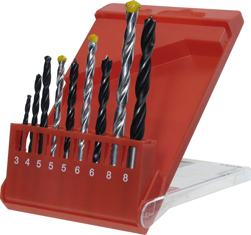 Productimage various Handtools Comb. Drill Set HSS/HM/Wood
