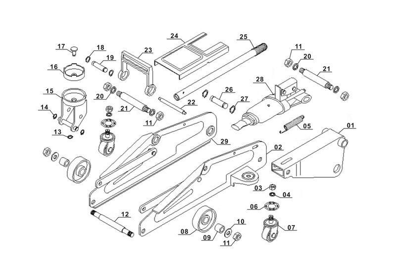 ersatzteile zu bt tj 2000 einhell rangierwagenheber. Black Bedroom Furniture Sets. Home Design Ideas