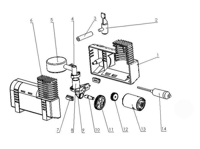 Spareparts For Bt Ac 12v Einhell Car Air Compressor