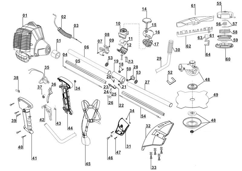 ersatzteile zu glbc 43 as ex a gardenline benzin sense. Black Bedroom Furniture Sets. Home Design Ideas