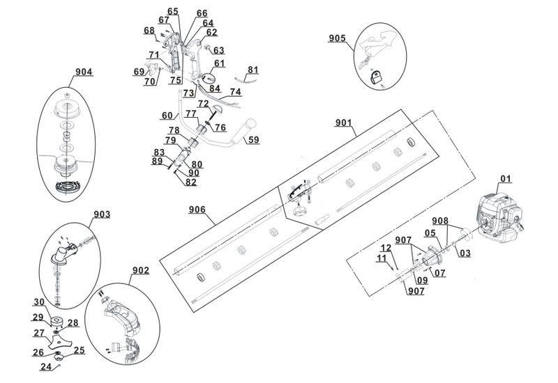 ersatzteile zu glbc 43 1 as ex at gardenline benzin sense. Black Bedroom Furniture Sets. Home Design Ideas