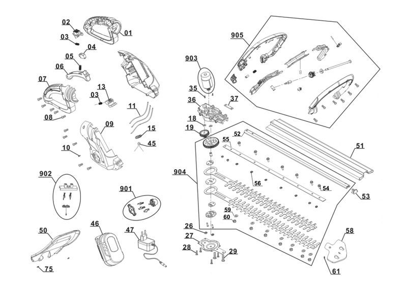 ersatzteile zu glah 18 3 without battery gardenline akku. Black Bedroom Furniture Sets. Home Design Ideas