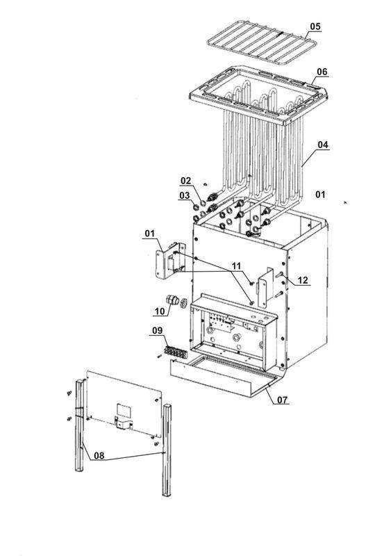 ersatzteile zu shg classic 7 5 kw einhell saunaofen. Black Bedroom Furniture Sets. Home Design Ideas