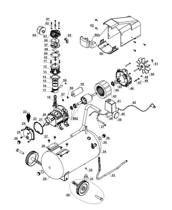 Hervorragend Ersatzteile zu 24/8/1,5 - Herkules Kompressor ML78