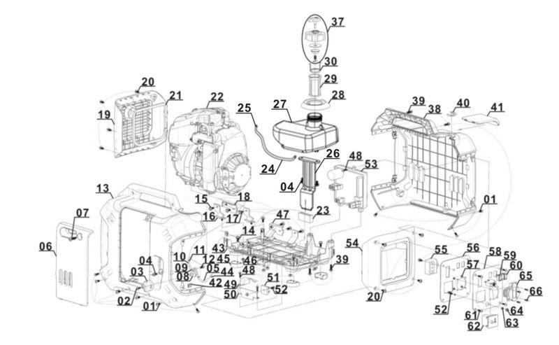 ersatzteile zu bt pg 900 einhell stromerzeuger benzin. Black Bedroom Furniture Sets. Home Design Ideas