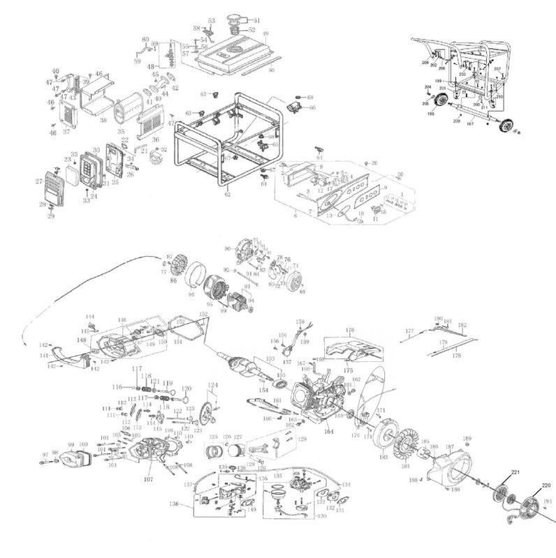 Ersatzteile zu STE 5500 - New Generation Stromerzeuger (Benzin)