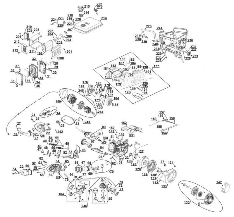 ersatzteile zu bt pg 5500 d einhell stromerzeuger benzin. Black Bedroom Furniture Sets. Home Design Ideas
