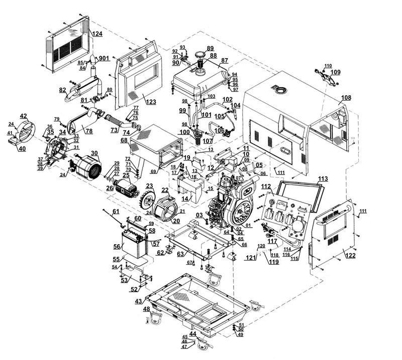 Ersatzteile zu STE 5000 D - New Generation Stromerzeuger (Diesel)